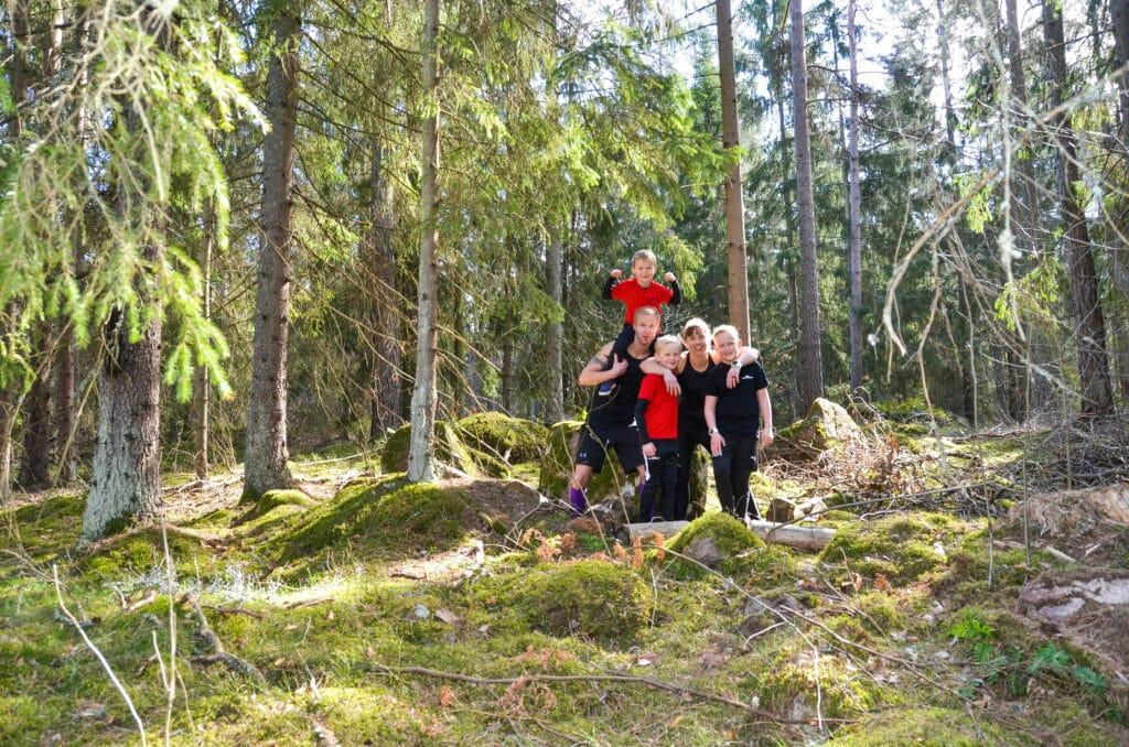 Familjen Högström på OCR-banan
