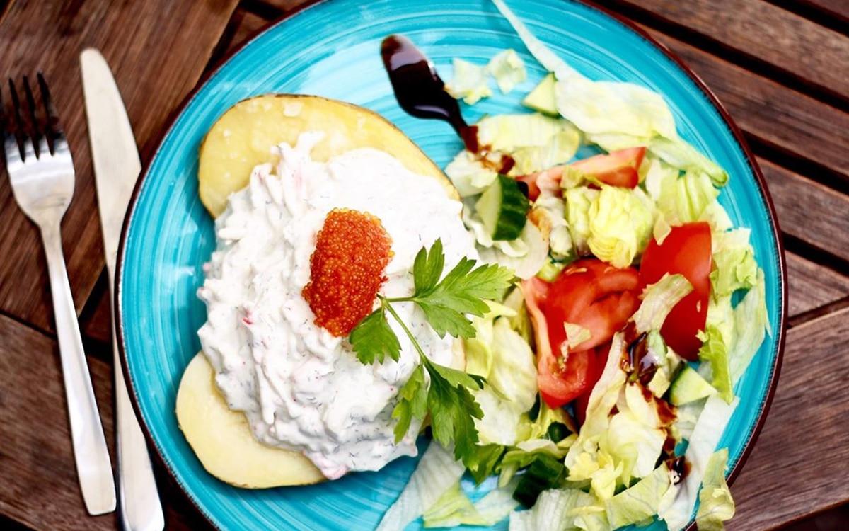 Mat från Bakgårdens bistro i Oskarshamn