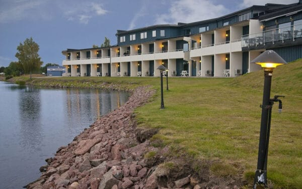 Utsidan på Hotel Corallen i Oskarshamn
