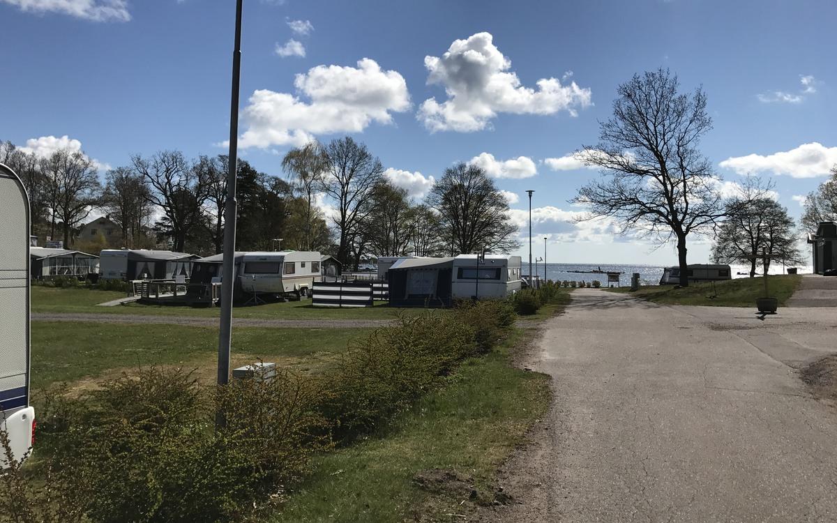 Husvagnar på Havslätts camping